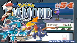 Pokemon Diamond Walkthrough 54 : Route 204 finding legendary